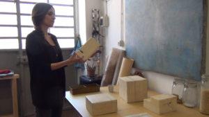 Silvia Infranco nel suo studio